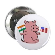 USA AND INDIA Button