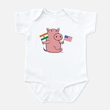 USA AND INDIA Infant Bodysuit
