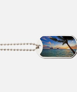 pacific sunrise at lanikai hawaii Dog Tags