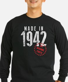 Made In 1942, All Original Parts Long Sleeve T-Shi