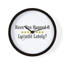 Hugged Lyricist Wall Clock