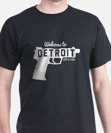 Welcome to Detroit lock and load T-Shirt