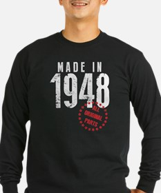 Made In 1948, All Original Parts Long Sleeve T-Shi