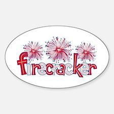 Firecracker Oval Decal