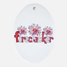 Firecracker Oval Ornament