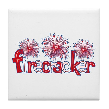 Firecracker Tile Coaster