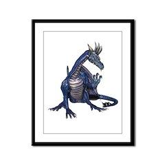 Blue Dragon Framed Panel Print
