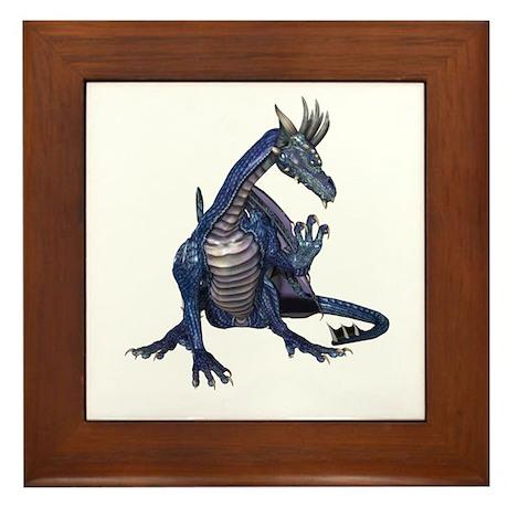 Blue Dragon Framed Tile
