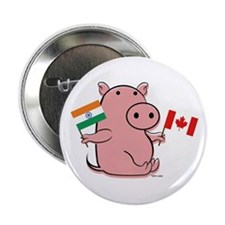 CANADA AND INDIA Button