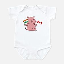 CANADA AND INDIA Infant Bodysuit