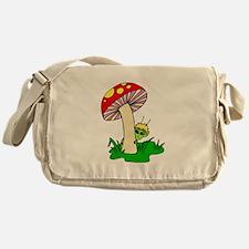 Alien Hiding Under Mushroom Messenger Bag