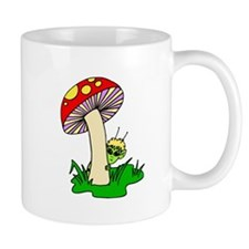 Alien Hiding Under Mushroom Mugs