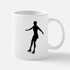 Figure Skate Silhouette Mugs