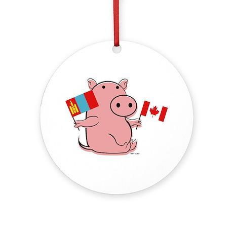 CANADA AND MONGOLIA Ornament (Round)