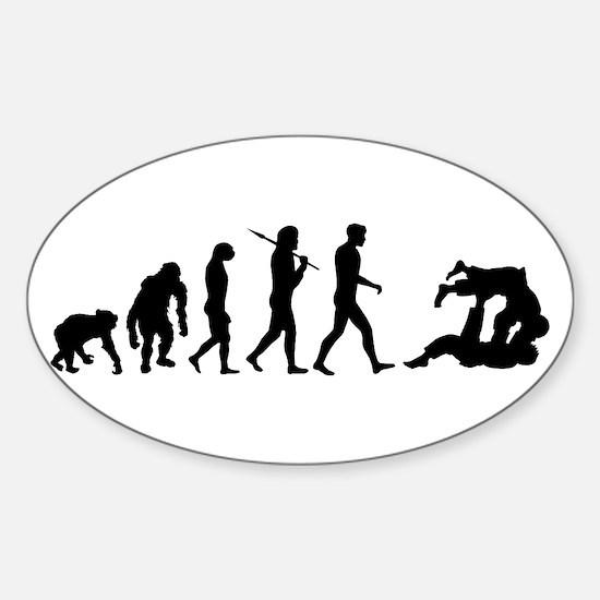 Evolution of Judo Sticker (Oval)