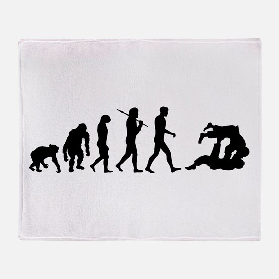 Evolution of Judo Throw Blanket