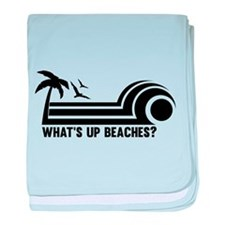 Whats up beaches baby blanket