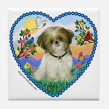 Shih Tzu in my heart (P) Tile Coaster