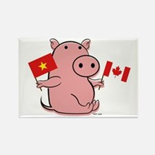 CANADA AND VIETNAM Rectangle Magnet