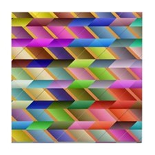 Articulated triangles Tile Coaster