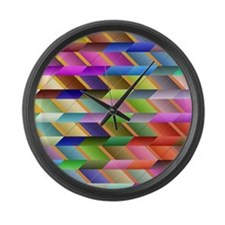 Unique Geometric Large Wall Clock