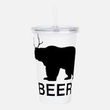 Beer Bear Acrylic Double-wall Tumbler