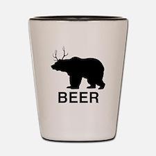 Beer Bear Shot Glass