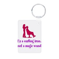 Funny Beautician Curling Iron Keychains