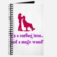 Funny Beautician Curling Iron Journal