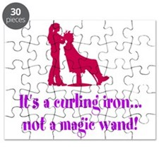 Funny Beautician Curling Iron Puzzle