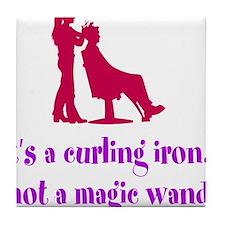 Funny Beautician Curling Iron Tile Coaster