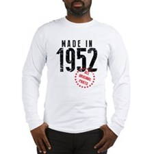Made In 1952, All Original Parts Long Sleeve T-Shi