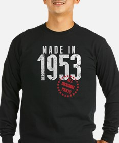 Made In 1953, All Original Parts Long Sleeve T-Shi