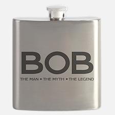 BOB The Man The Myth The Legend Flask