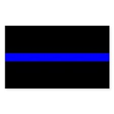 thin blue line rec 1 Decal