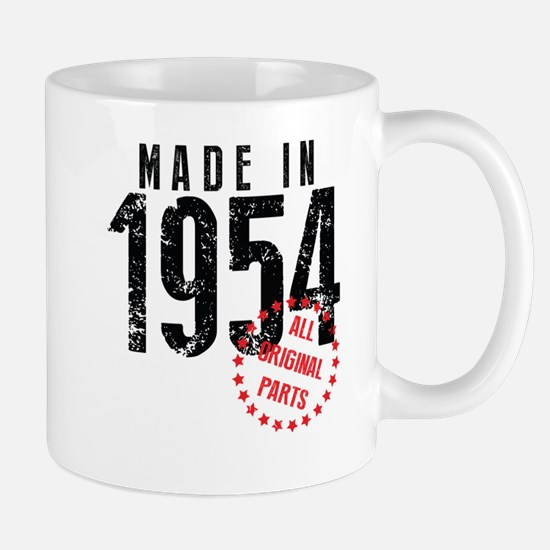 Made In 1954, All Original Parts Mugs