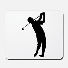Golfer Silhouette Mousepad