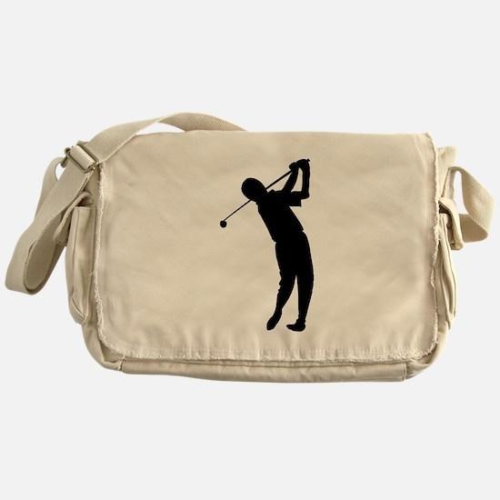 Golfer Silhouette Messenger Bag