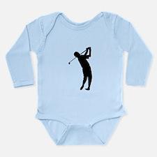 Golfer Silhouette Body Suit