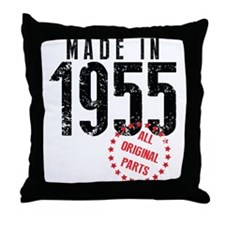 Made In 1955, All Original Parts Throw Pillow
