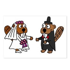 Beaver Wedding Postcards (Package of 8)