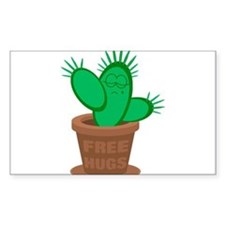 Cactus Free Hugs Decal