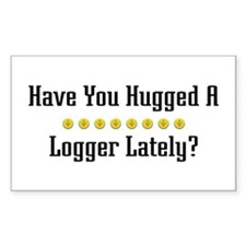Hugged Logger Rectangle Decal