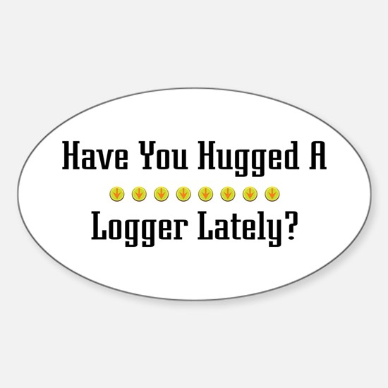 Hugged Logger Oval Decal