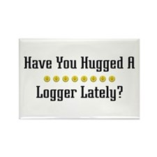 Hugged Logger Rectangle Magnet