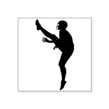 Football Punter Silhouette Sticker