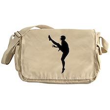 Football Punter Silhouette Messenger Bag