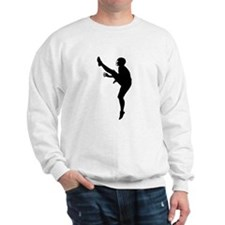 Football Punter Silhouette Sweatshirt