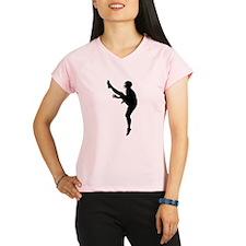 Football Punter Silhouette Performance Dry T-Shirt