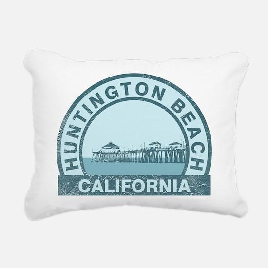 Huntington Beach, CA Rectangular Canvas Pillow